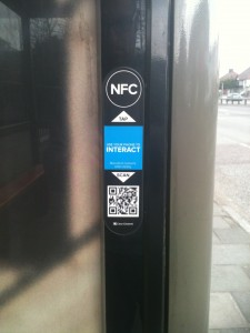 QR code at a bus stop