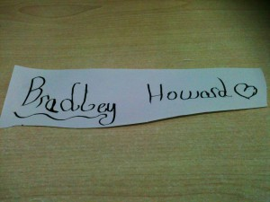 Bradley Howard in Calligraphy