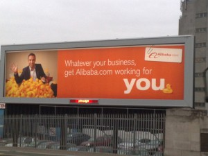 Alibaba billboard in London