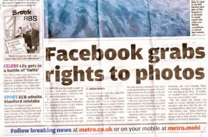 Metro newspaper headline. Source: weareblink.com