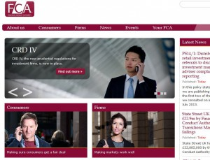 FCA Homepage and it's two roles