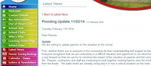 School Flooding Announcement on Website - what happens if the website crashes?