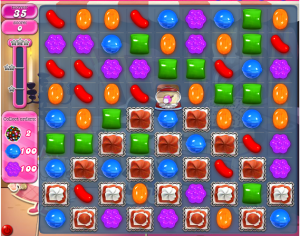 Candy Crush Level 529. If this screenshot gets your pulse racing, don't work out how much time you've spent staring at your smartphone