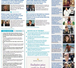 The Mail Online homepage - it's ain't pretty, but it attracts a huge audience