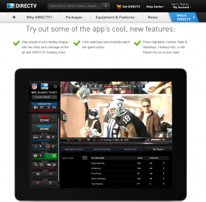 DIrectTV 'try the app' service works surprisingly well