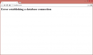 Bradbox WordPress error