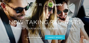 The Uber & Spotify deal - striking fear into the hearts of taxi drivers across the world