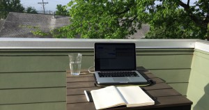 The Buffer outdoor office - customer service Buffer style