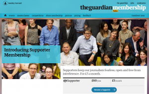 The Guardian supporter membership model