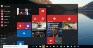 The Windows 10 start menu. It's back!!