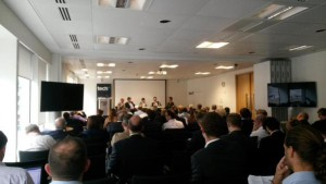 It was a large audience for today's TechUK IoT #connectedhome event. Credit: João Marques Lima on Twitter