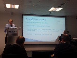 Craig Polley discussing Insurance and IoT at TechUK