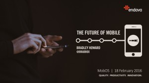 The Future of Mobile at MobOS. It probably won't be like an iPhone 4