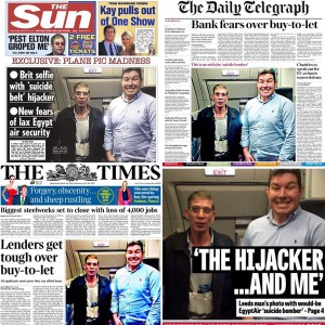 Front pages of UK newspapers with Ben Innes. Perhaps we should spare a thought for how Innes might be feeling?