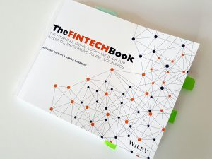 The Fintech Book, a paper version of a decent blog. Sticky bookmarks are mine and do not come as standard