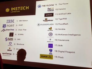 19 start ups appeared at InsTech London September