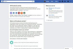Off-Facebook data collection