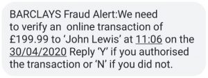 Have you ever had a text message warning from your bank about a transaction?
